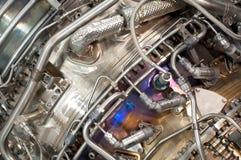 Hidráulica del motor de jet fotos de archivo libres de regalías