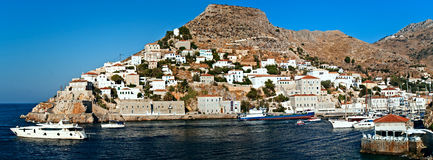 Hidra island, harbour (2). Hidra island,  Saronic Islands, Greece, harbour (2 Royalty Free Stock Image