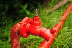 Hidrant rosso Immagine Stock Libera da Diritti