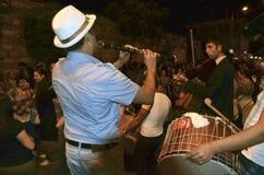 Hidrellez新春佳节单簧管音乐家 免版税库存图片