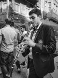 Hidrellez新春佳节单簧管音乐家 库存照片