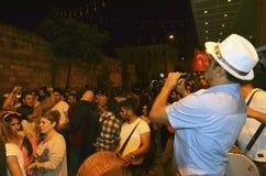Hidrellez新春佳节单簧管音乐家 库存图片