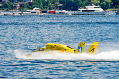 Hidro barco da raça Fotografia de Stock