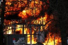 Hidro bola de fogo da subestação fotos de stock royalty free