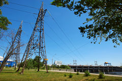 Hidro central eléctrica Imagem de Stock Royalty Free