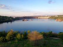 Hidro  dam Zaporozhye City Stock Photo