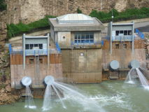 Hidro planta elétrica Fotografia de Stock