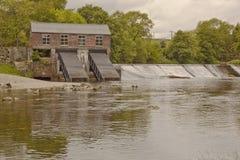 A hidro planta elétrica em Linton Falls. Imagens de Stock Royalty Free