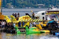 A hidro raça Pits Seafair Fotos de Stock Royalty Free