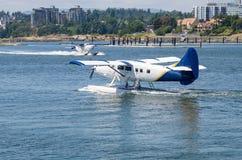 Hidroavião comercial que prepara-se para Take off fotografia de stock
