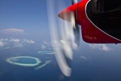 Hidroavión en Maldives Fotos de archivo libres de regalías