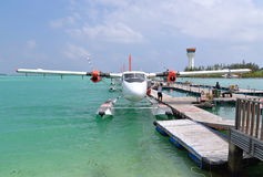 Hidroavión, varón, Maldivas Imagen de archivo libre de regalías