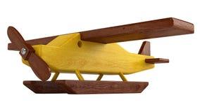 Hidroavión de madera en pontón Fotos de archivo