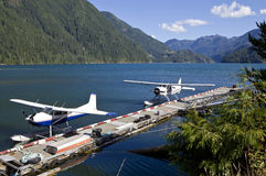 2 hidroaviones Imagenes de archivo