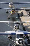 Hidroaviones atracados en Vancouver Fotos de archivo libres de regalías