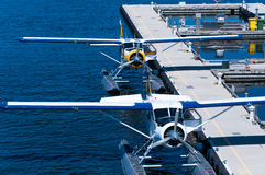 Hidroaviones en el puerto de Vancouver Imágenes de archivo libres de regalías