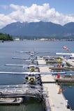Hidroaviones en el puerto Vancouver, Canadá Fotos de archivo libres de regalías