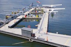 Hidroaviones en el puerto Vancouver, Canadá Fotografía de archivo libre de regalías