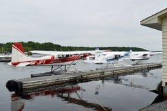 Hidroaviones en Parry Sound, Ontario, Canadá Imagen de archivo libre de regalías