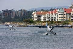 Hidroaviones en Victoria Harbour Imágenes de archivo libres de regalías
