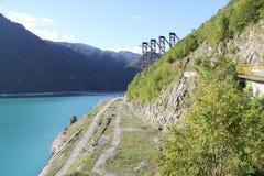 Hidroeléctrico, Ungur, Georgia Fotografía de archivo libre de regalías