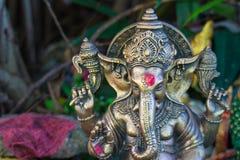 Hidu god gannesha statue. Hindu god ganesha statue under sun light Royalty Free Stock Photo