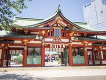 Hie Jinja Shrine, Tokyo, Japan. Hie Shrine was designated as a First Class Government Shrine before the Second World War. The deity enshrined is Oyamakui-no-kami stock images