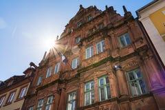 Hiedelberg Ritter Summy niebieskiego nieba słońca promieni Sławny Hotelowy Odwiedzać Obraz Royalty Free