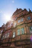 Hiedelberg Ritter Summy niebieskiego nieba słońca promieni Sławny Hotelowy Odwiedzać Zdjęcie Stock