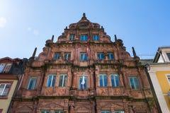 Hiedelberg Ritter Summy niebieskiego nieba słońca promieni Sławny Hotelowy Odwiedzać Fotografia Stock