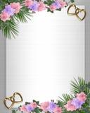 Hiedra de las orquídeas de la frontera de la invitación de la boda Fotografía de archivo libre de regalías