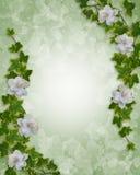 Hiedra floral y Gardenias de la frontera ilustración del vector