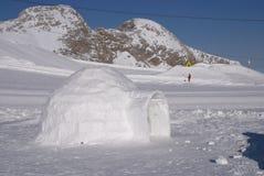 Hiele el iglú del hielo Imagen de archivo