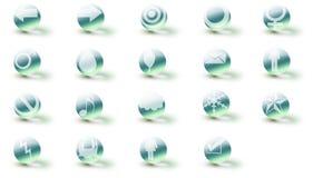 Hielo 3d de los iconos (+ cáustico) Fotografía de archivo
