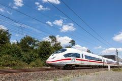 HIELO alemán del tren de alta velocidad Fotos de archivo libres de regalías