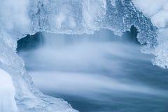 Hielo azul Foto de archivo libre de regalías