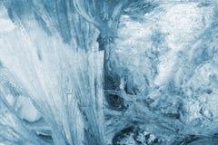 Hielo azul Imágenes de archivo libres de regalías