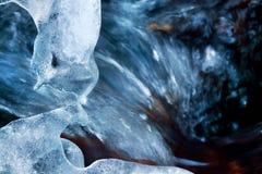 Hielo azul Fotos de archivo