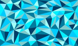 Hielo azul Art Vector Graphic Background polivinílico bajo stock de ilustración