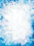 Hielo azul con el lugar para el texto