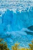 Hielo azul de Perito Moreno Glacier, la Argentina foto de archivo libre de regalías