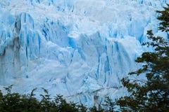 Hielo azul del glaciar de Perito Moreno foto de archivo libre de regalías