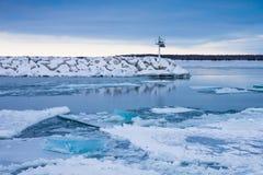 Hielo azul del invierno Fotografía de archivo libre de regalías