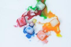 Hielo colorido Imagen de archivo libre de regalías