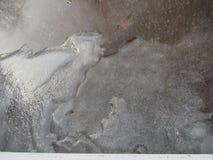Hielo congelado de la piscina fotografía de archivo libre de regalías