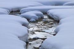 Hielo de la nieve Fotos de archivo libres de regalías