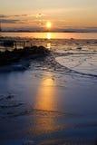 Hielo de Sunrised Fotos de archivo