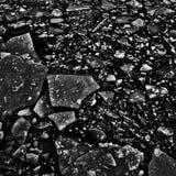 hielo del Alto-contraste en textura del agua imagen de archivo