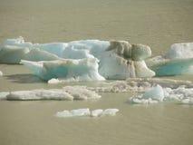 Hielo del glaciar Imagenes de archivo