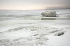 Hielo del hielo sea.white del invierno Foto de archivo libre de regalías
